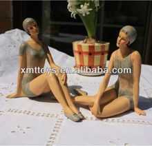 can lead a country style resin bathing beauty small sculpture decoration