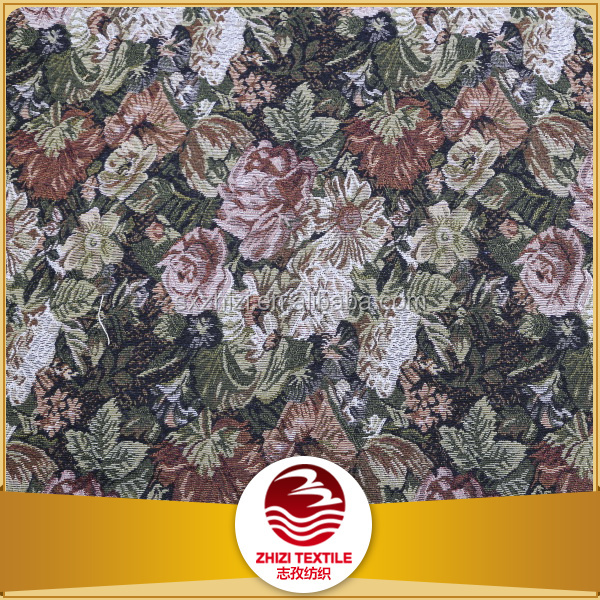 Polyester/cotton jacquard curtain fabric , gobelin fabric