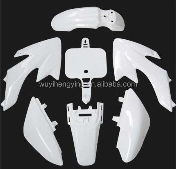 white CRF50 plastic body cover fairing for Dirt Pit Bike XR50 SSR Thumpstar DHZ SDG