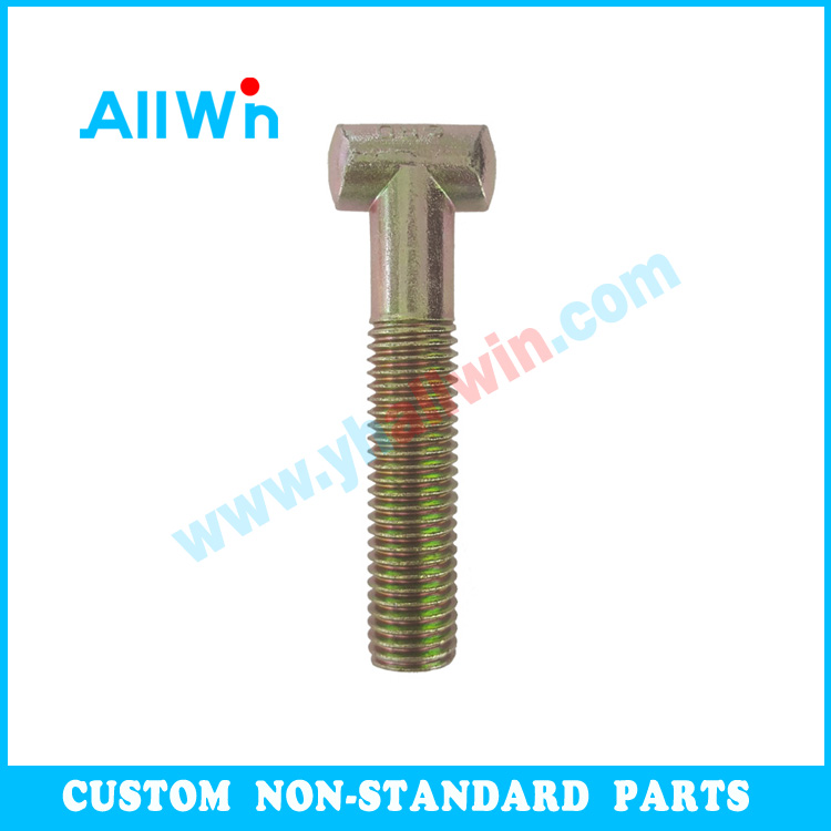Bolt and Nut Company Suppliers Zn Plated Carbon Steel Hammerhead Half Thread Screw T Bolt M8, M10, M12, M16, M20, M24