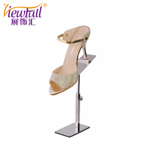 Exquisite stainless steel shoe shine stand for sale