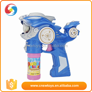 Animal shape children play toys wholesale plastic material blue bubble gun