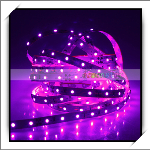 500CM 30W 300LED 3528 SMD 400-450nm DC 12V LED Strip Light Decorative Light Pink