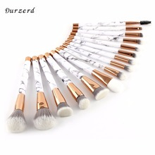 High-end 2018 Private Label High Quality Rose Gold Marble Makeup Brush Set/Kit
