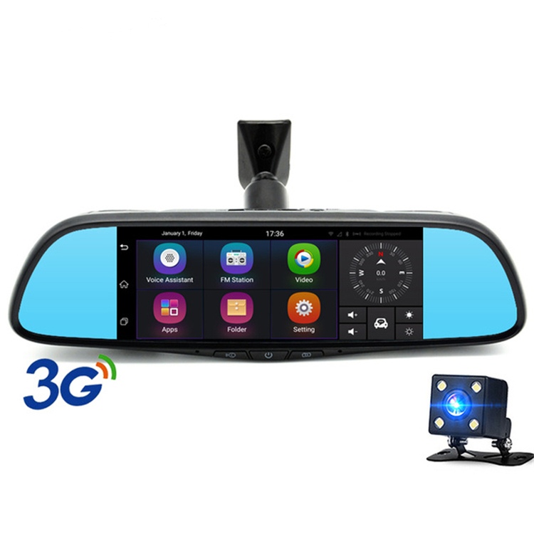 "7"" Touch 3G Special Car DVR Camera Mirror GPS Bluetooth 16GB Android 5.0 Dual Lens Full HD 1080p Video Recorder Dash Cam"