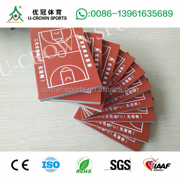 Basketball sport court flooring material Acrylic tennis court silicon pu flooring