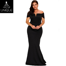 Dubai black party dress wedding gowns prom dress for fat girl women