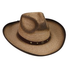 High quality brown wheat straw cowboy hat for men