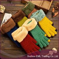 Wholesale Women Thick Warm Touch Screen Gloves