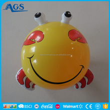 Kids PVC Inflatable animal toy in adorable small crab shape,pvc free inflatable beach ball