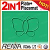 RENJIA food plates silicone placemat and tray for babies, children's placemat with pocket