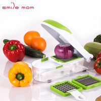 Smile mom Kitchen Multi Manual Onion Chopper Cut Vegetable Dicer Pro Quick Slicer Vegetable Dicer