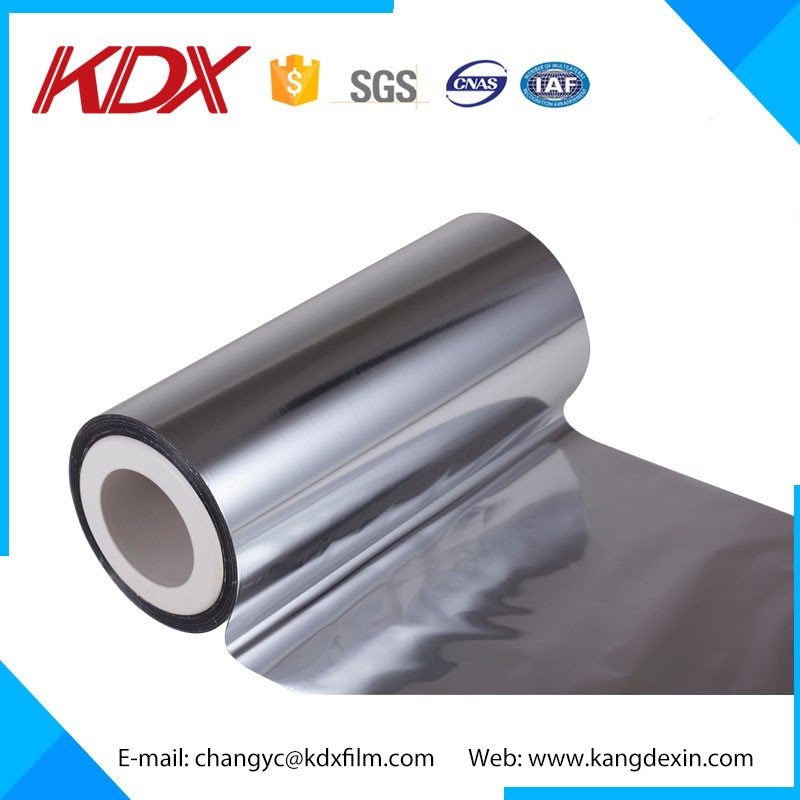 Mirror Metallized Polyester Film/BOPP Silver Metalized Film Laminated With Paperboard
