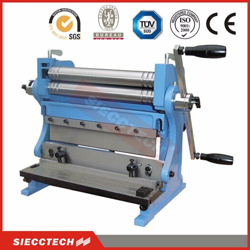 small manufacturing machines 3-in-1 combination shear press brake slip roll