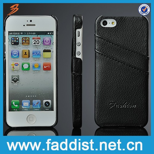 OEM fashion leather cellphone case for iphone 5 5s