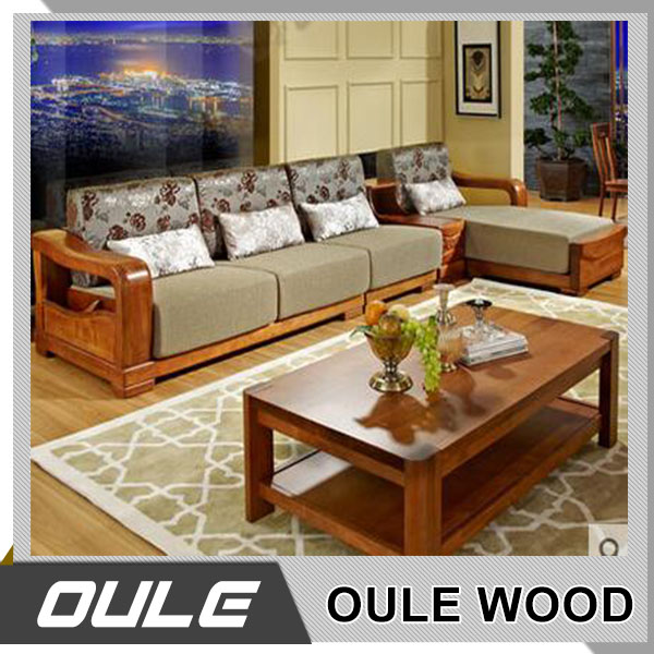 High Quality Oak Solid Wood Simple Wooden Sofa Set Design