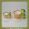 Terracotta animal turtle flower pot