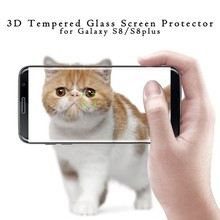 New product!!!For samsung Galaxy S8 tempered glass screen protector / hot bend 3D curved S8 plus tempered glass