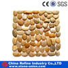 various style pebble stone on mesh for decoration
