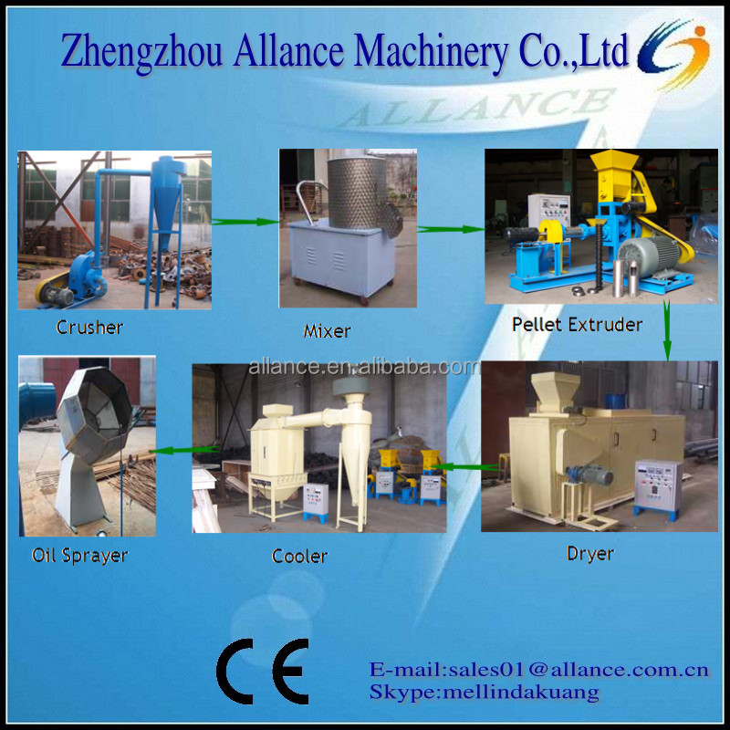 made in china Fish processing machine/fish powder production machine/floating fish pellet machine best factory price