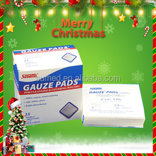 Medical absorbent sterile gauze pads without x-ray