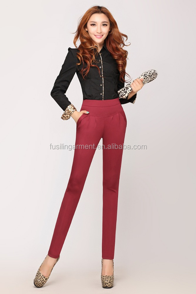 New Fashion Women Sex Picture Pants in Red and Plus Size