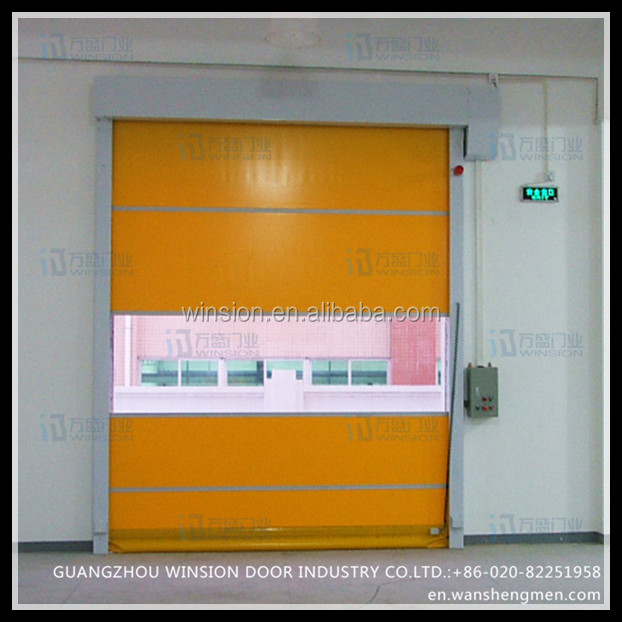 Alibaba China interior roll down opening aluminum door frame pvc screen indoor door