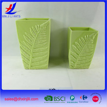 Wholesale customized green ceramic plant pots