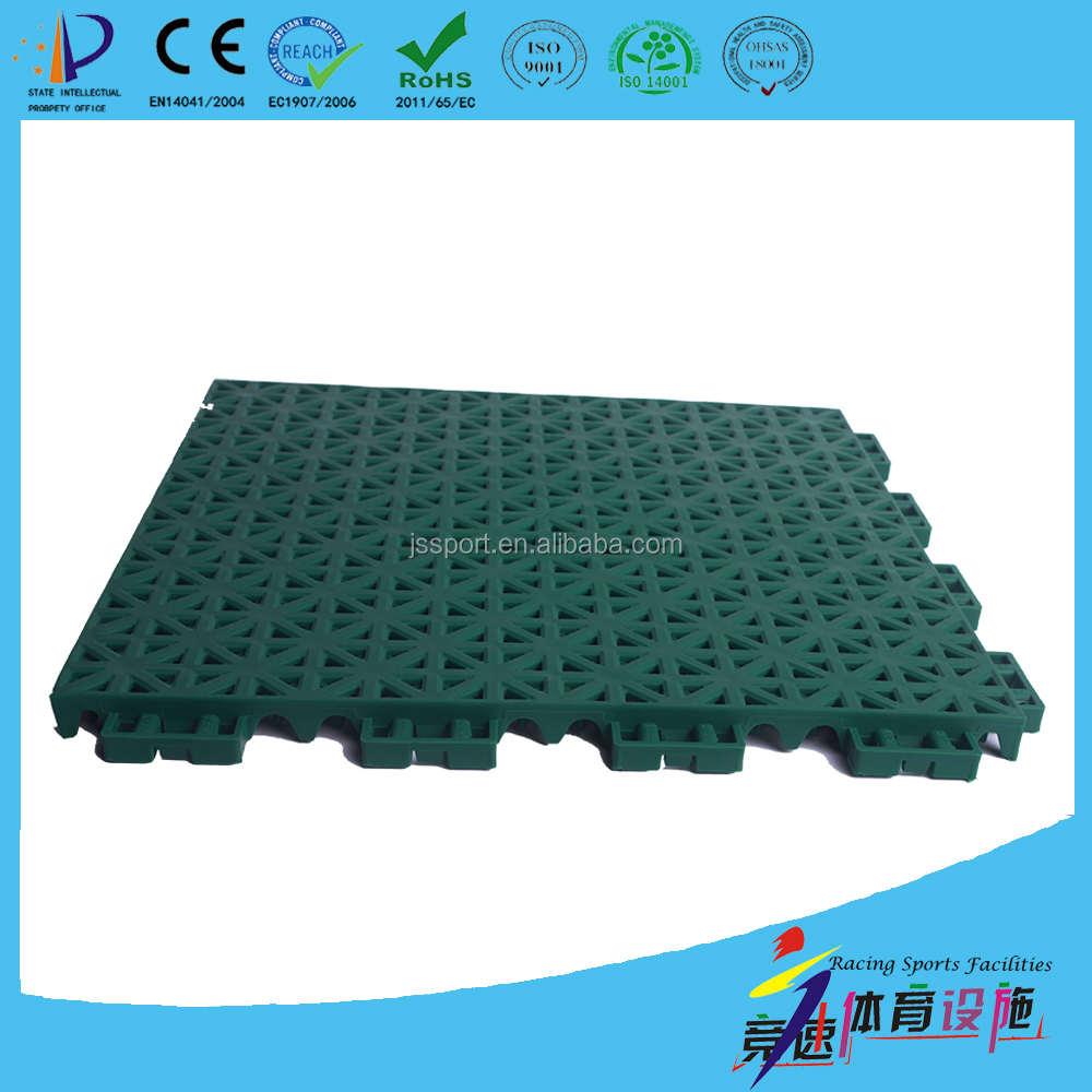 TKL250-13 DIY removable / mobile basketball interlocking plastic flooring tiles with 10 years use life