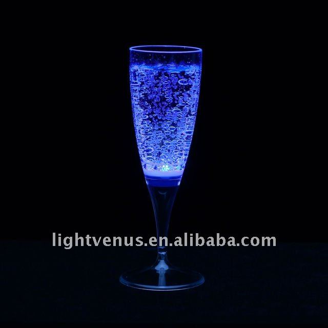 LED lighting glow cup Liquid Active drinking glass decoration plastic led flash champagne glass