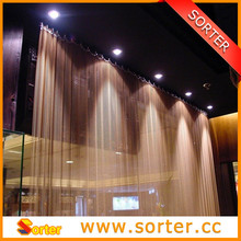 woven metal drapery/romantic curtain/decorative metal partition