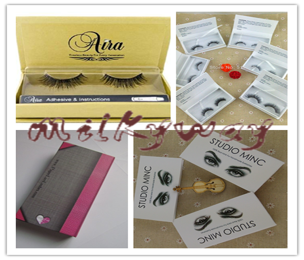 D2092 long thick full strip 3D hand made mink fur eyelash