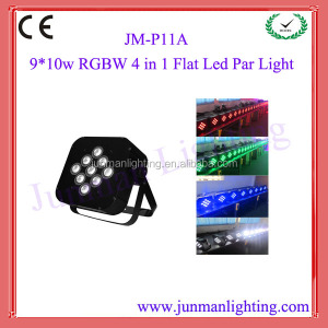 9pcs 10W RGBW 4 in 1 Led DJ Stage Effect Par64 Par Can Light