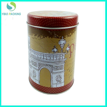 2016 best selling round tin cans for tea wholesale food grade tin can for tea packing