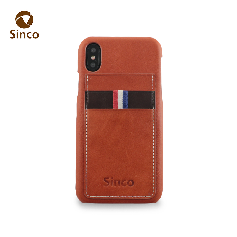 custom leather printing logo phone case protective mobile phone cases for iphone X