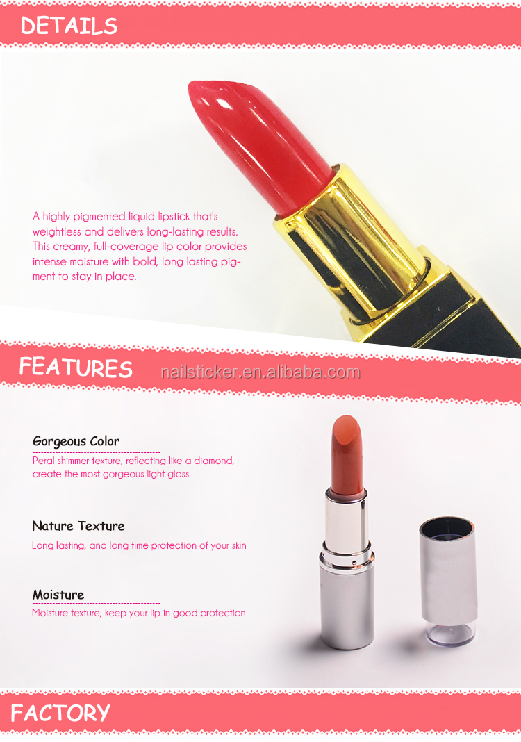 Cheap price smooth waterproof private label lipstick
