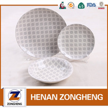 2018 popular latest custom pad printing ceramic dolomate dinner set with your design