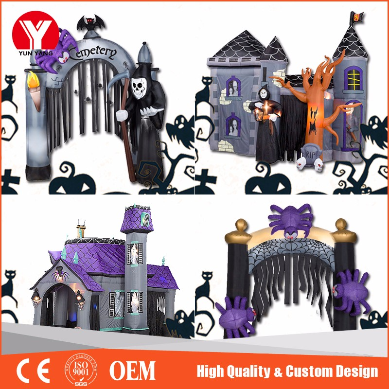 Halloween inflatable haunted bounce house for sale