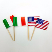 Disposable flags toothpicks make for party