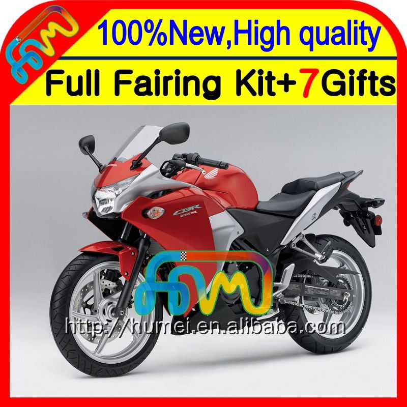 Body For HONDA Injection CBR250R MC41 Red black 11-13 11CL CBR 250R CBR250 R 11 12 13 2011 2012 2013 Glossy red blk Fairing