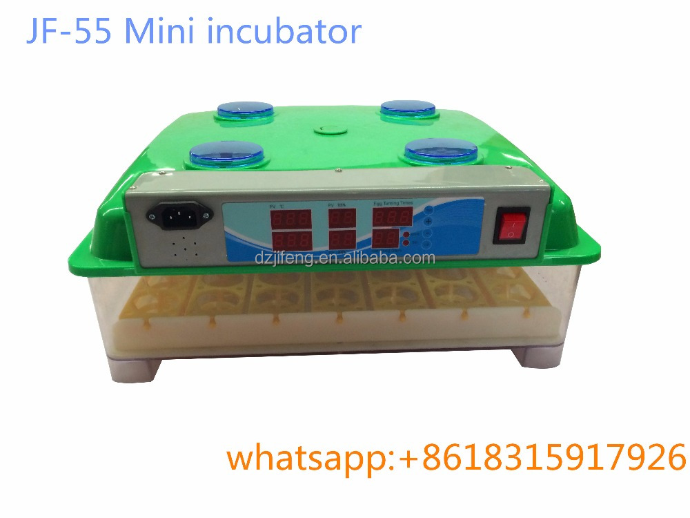 JF- 55 , 98% Hatching Rate Chicken/Quail /duck/goose eggs Incubator 55 pcs Egg small egg incubator for sale