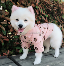 factory sale dog clothes summer in pink with bear printed