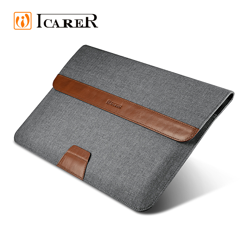 ICARER Fabric Tablet Sleeve for MacBook Air 13 inch with Stand Function