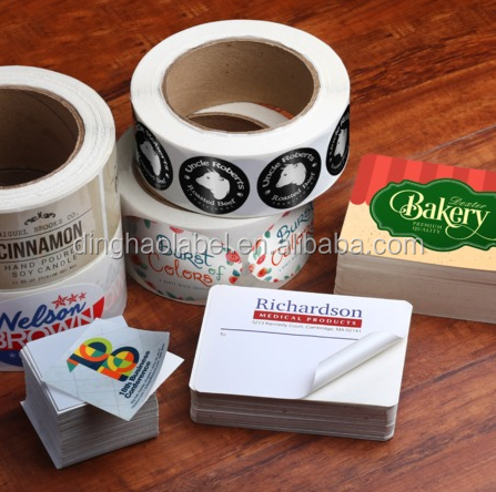 Stiker Your Products Customized Glossy Sticker Roll Logo Label