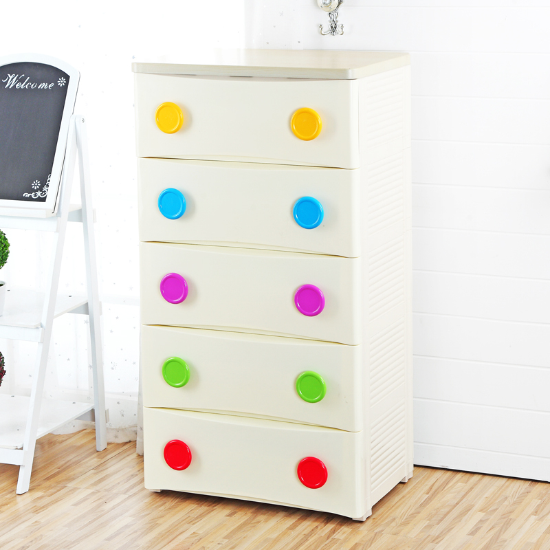 Product Yarmouk top drawer storage cabinets color green plastic buckle simple baby wardrobe lockers finishing cabinet