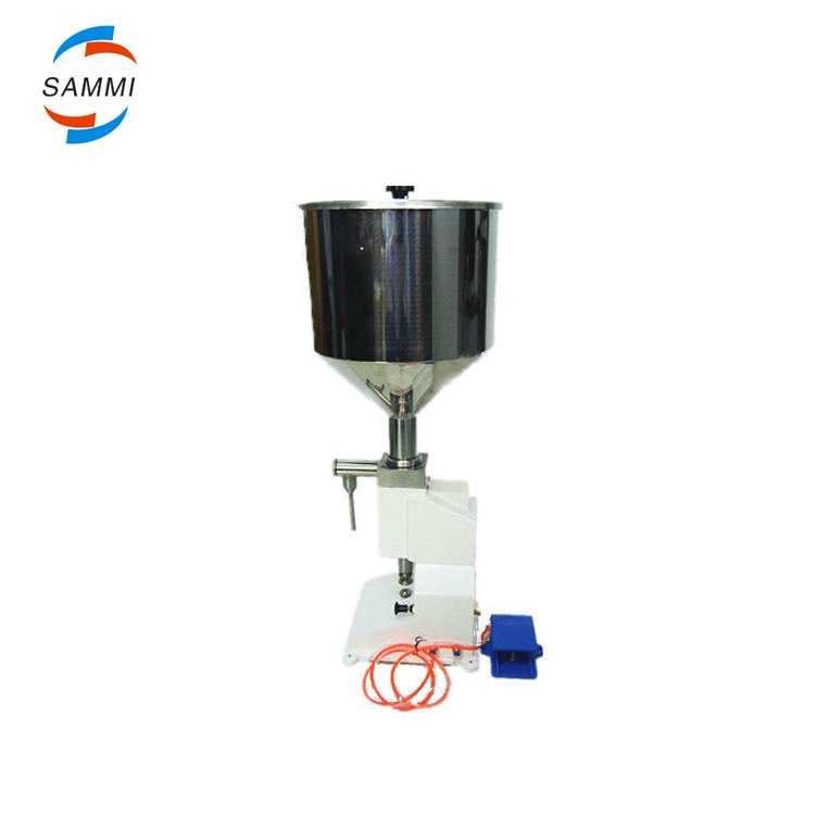 Pneumatic Shoe Polish Filling Machine for High Viscosity Liquid , Cream Filler (5-50ml) <strong>A02</strong>