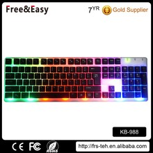 Computer Mechanical usb Wired LED Backlit Gaming Keyboard