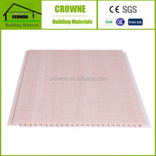 Imitation Wood Design washable pvc wall panel From China Flat PVC Wall Panel with v groove
