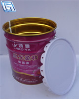 18L printed tinplate drum,round shape,oil paint packing