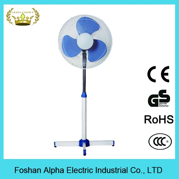 2016 Latest 16 inch quietest stand fan electric pedestal fan wholesale